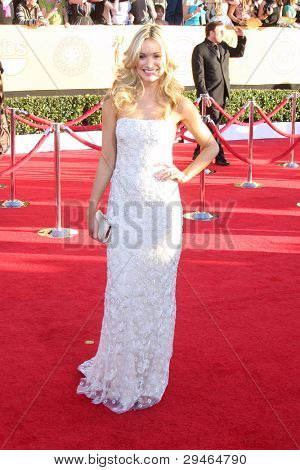 LOS ANGELES - JAN 29:  Katrina Bowden arrives at the 18th Annual Screen Actors Guild Awards at Shrine Auditorium on January 29, 2012 in Los Angeles, CA