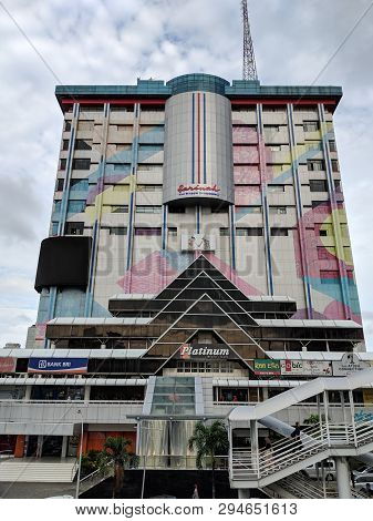 Jakarta, Indonesia - February 16, 2019: Background Of Sarinah Building On Thamrin Street.