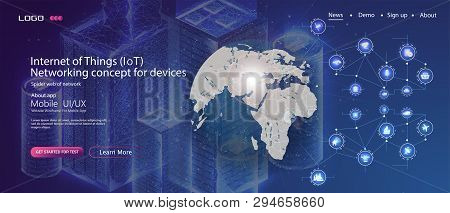 Business Innovation Technology Concept. Smart Home Abstract Background. Technology Web Background. C