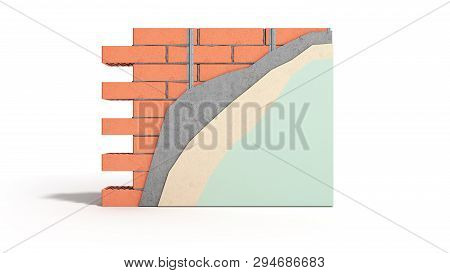 Home Renovation Restructuring Process Repair Wall Painting New House Construction Concept Brick Wall