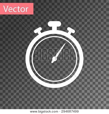 White Stopwatch Icon Vector & Photo (Free Trial)   Bigstock