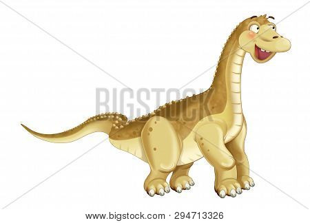 Cartoon Dinosaur Diplodocus Apatosaurus Illustration For Children
