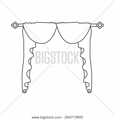 Isolated Object Of Lambrequin And Hall Icon. Collection Of Lambrequin And Cosiness Stock Vector Illu