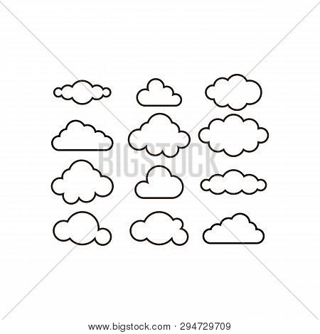 Cloud Set. Cloud Icon Vector. Cloud Icon Art. Cloud Icon Picture. Cloud Icon Image. Cloud Icon Logo.