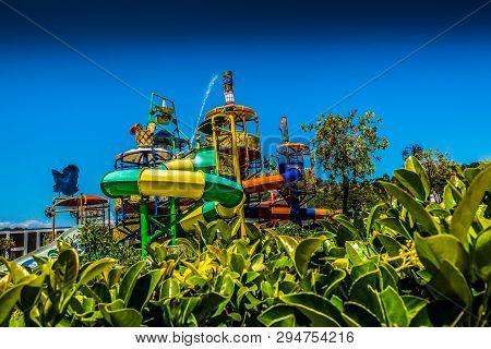 Children's Water Park. Children's Water Slides