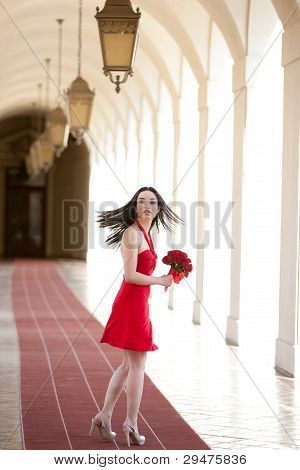 Pretty Girl In A Red Dress