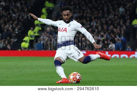 LONDON, ENGLAND: 09 MAR 2019. Danny Rose of Tottenham during the UEFA Champions League Quarter Final, First Leg match