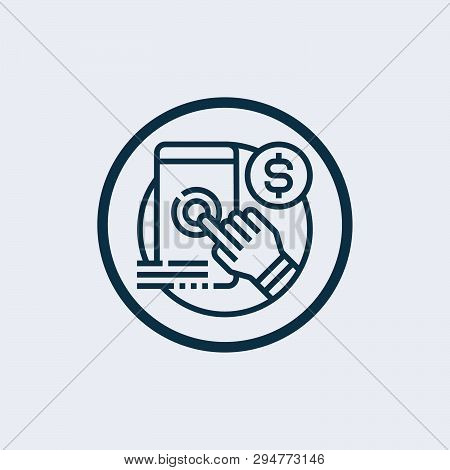 Pay Per Click Icon Isolated On White Background. Pay Per Click Icon Simple Sign. Pay Per Click Icon