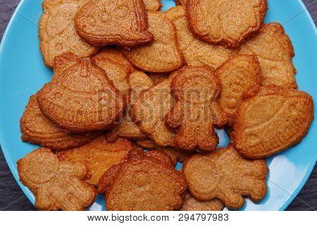 Cookies In Form Rocket, Ufo, Alian And Astronaut For World Cosmonautics Day, 12 Apri.