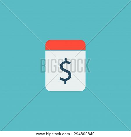 Pay Day Icon Flat Element. Vector Illustration Of Pay Day Icon Flat Isolated On Clean Background For