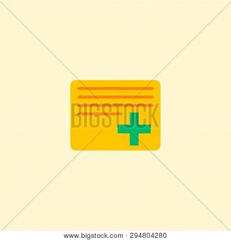 Add Task Icon Flat Element.  Illustration Of Add Task Icon Flat Isolated On Clean Background For You