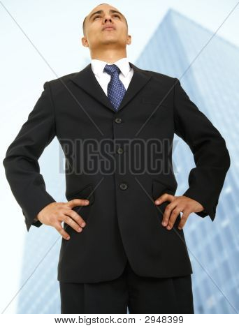 Business Owner Standing In Front Of Building