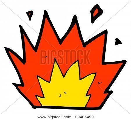 cartoon explosion (raster version)