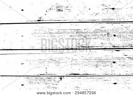 Vector Wood Texture. Old Wooden Wall, Horizontal Nailed Planks. Abstract Background. For Posters, Re