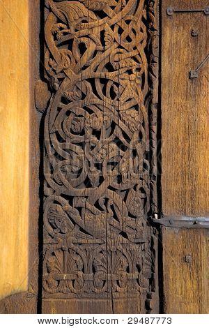 door's detail, Torpo Stavkirke, Norway
