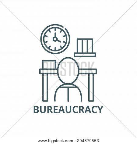 Bureaucracy Line Icon, Vector. Bureaucracy Outline Sign, Concept Symbol, Flat Illustration