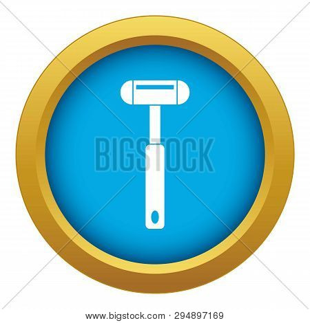 Reflex Hammer Icon Blue Vector Isolated On White Background For Any Design