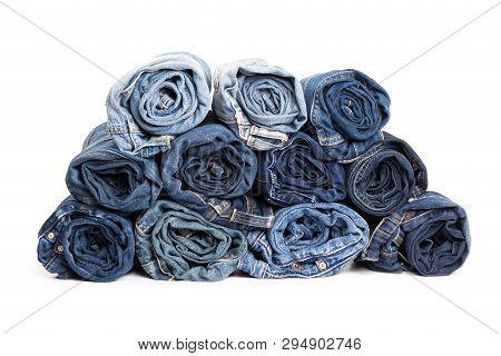 Blue Jean Background .blue Denim Jeans Texture. Jeans Background. Blue Torn Denim Jeans Texture.clas