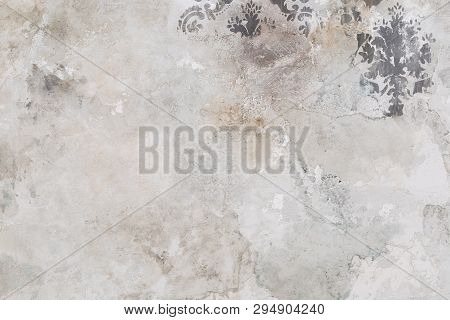 Cement Wall Background. Texture Placed Over An Object To Create A Grunge Effect For Your Design.