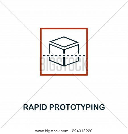 Rapid Prototyping Icon In Two Color Design. Red And Black Style Elements From Machine Learning Icons