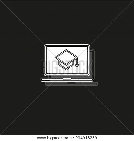 Elearning Icon. Simple Element Illustration. Elearning Symbol Design From Elearning Collection. Can
