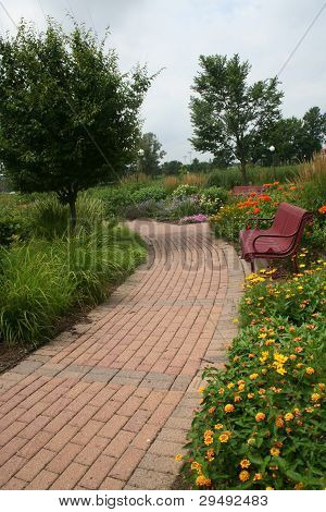 Garden Path with Bench