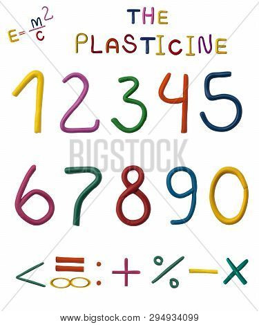 Numbers Plasticine Shool Kit For Kid Funny Colors Words