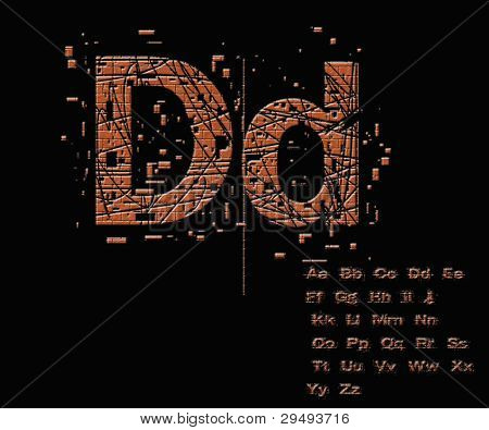 One Letter From Stone Alphabet Set  From D