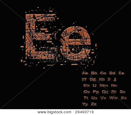 One Letter From Stone Alphabet Set  From E