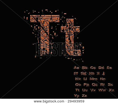 One Letter From Stone Alphabet Set  From T