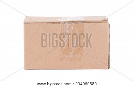 Cardboard Box With Flip Closed Lid, Lid Open