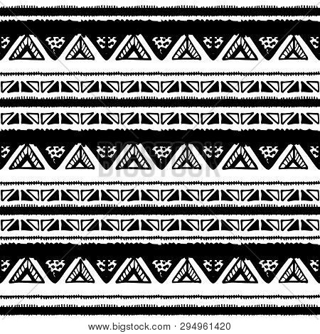 Ethnic Seamless Pattern In Native Style. Vector