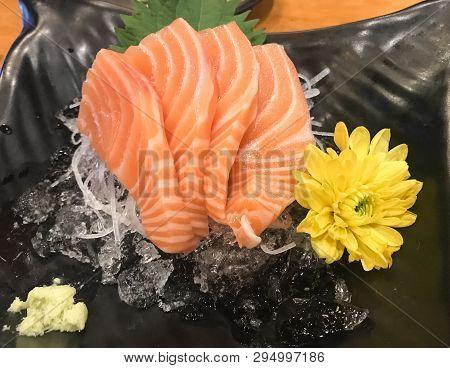 Salmon Sashimi Set, Japanese Food Very Yummy