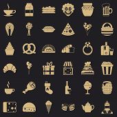 Big bounty icons set. Simple style of 36 big bounty vector icons for web for any design poster