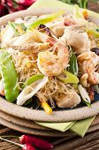 Glass noodles with shrimps and vegetables poster