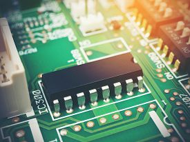 High Tech Electronic Pcb (printed Circuit Board) With Microchips Processor Technology