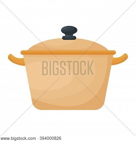 Cookware, Saucepan, Pan Isolated On White Background. Stylish Clipart, Cutout Object Stock Vector Il