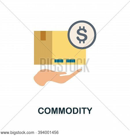 Commodity Icon. Simple Element From Economic Collection. Creative Commodity Icon For Web Design, Tem