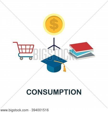 Consumption Icon. Simple Element From Economic Collection. Creative Consumption Icon For Web Design,