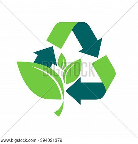 Recyclable Sign For Renewable Energy System, Biodegradable Products, Healthy Eco Food, Environmental