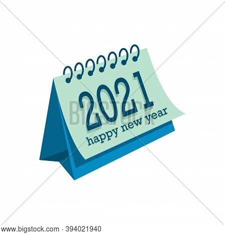 New Year 2021 Calendar. Happy New Year 2021 Calendar Vector. Number 2021 In The Modern Concept. 2021