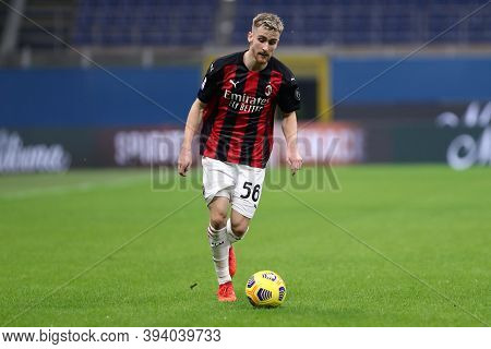Milano, Italy. 08th November 2020. Alexis Saelemaekers Of Ac Milan     During The  Serie A Match  Be