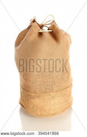 Burlap Bag. Burlap Bag Isolated on white. Room for text.