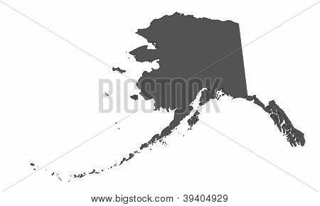 Map of Alaska - USA - nonshaded
