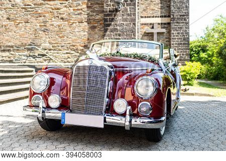 Ochtendung Germany 25.05.2019 Mercedes-benz Typ 300 Adenauer W186 Cabriolet Luxury Oldtimer Decorate