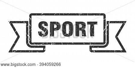 Sport Ribbon. Sport Grunge Band Sign. Sport Banner