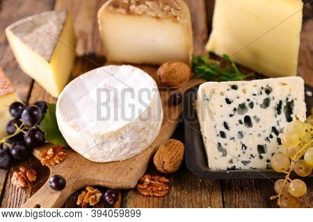 assorted of fresh french cheese