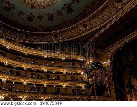 Mariinsky Theatre Interior. Concert Hall Of The Opera And Ballet Saint-petersburg, Russia.