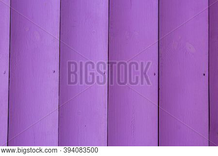 Lilac Background Of Wooden Boards. Texture Of Pink Wooden Boards. Light Lilac Surface Of Wooden Boar