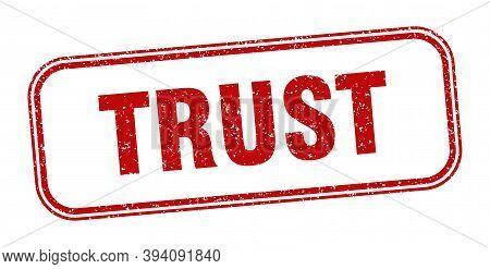 Trust Stamp. Trust Square Grunge Sign. Label